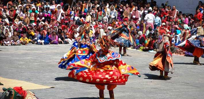 Masked Dancers at Bhutan Festival
