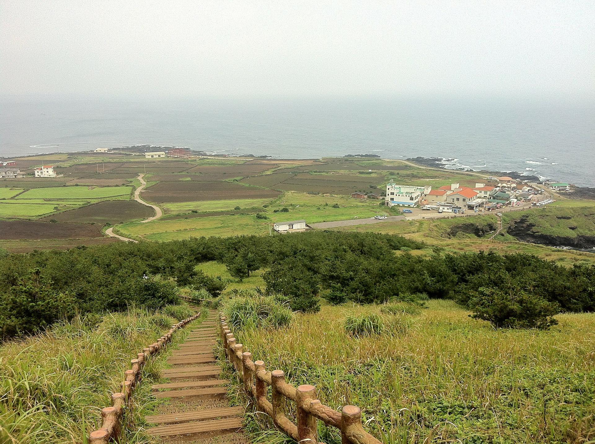 Walking trail on Jeju Island