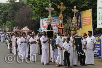 Good Friday, Kerala, India.